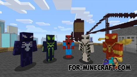 More Skin Packs mod for MCPE 0.11.0