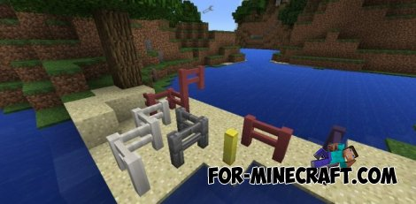 More Fences Mod for MCPE 0.11.0/0.10.5