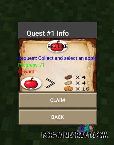 Quest Book mod for Minecraft PE 0.10.X