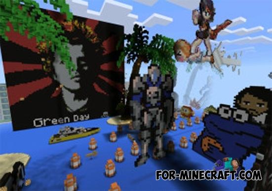 Pixel Art Express map III for Minecraft PE 0 11 X