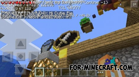 DebugMenu mod for Minecraft PE 0.11