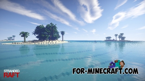 Stranded Raft map for Minecraft 1.8
