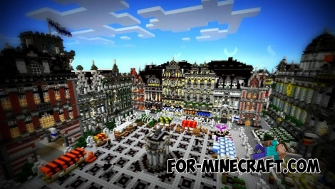 Imperial City map for Minecraft PE 0.11