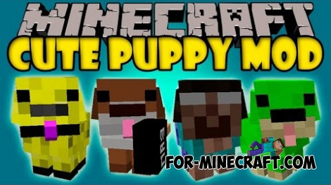 Cute Puppy mod for Minecraft 1.7.10