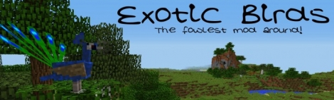 Exotic Birds mod for Minecraft 1.8