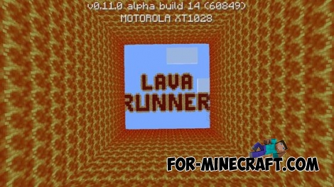 Lava Runner map for MCPE 0.11.1