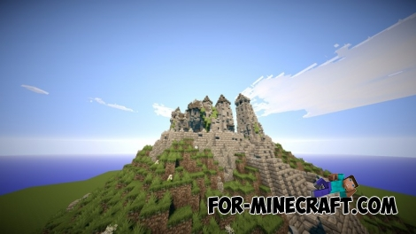 Honghome Castle map for Minecraft 1.8.6