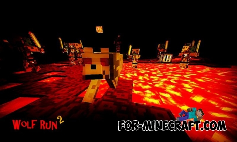 Wolf Run 2 map for Minecraft PE 0.11.1 / 0.11.0