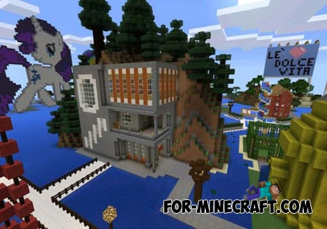 Village Ever map for Minecraft PE 0.11.X