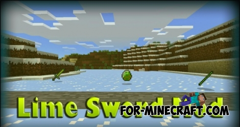 Lime Sword Mod for Minecraft PE 0.11.1