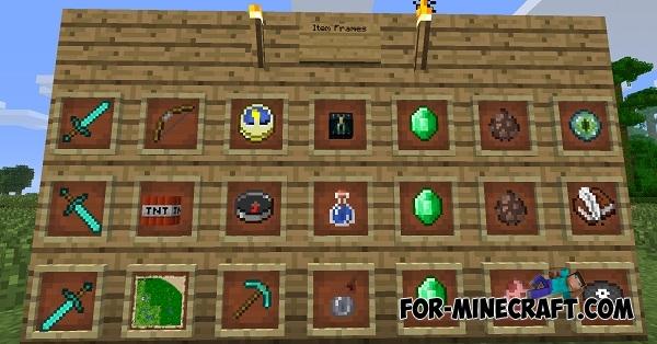 Item frames mod for Minecraft PE 0 11 1 / 0 11 0