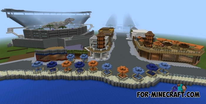 Jurassic World map for Minecraft PE 0.11.X