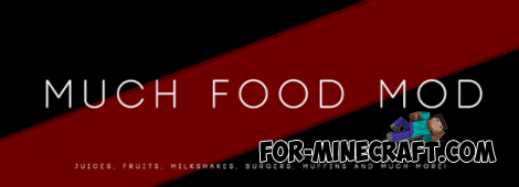Much Food Mod for Minecraft PE 0.11.1