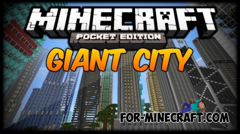 Gigant city map for Minecraft PE 0.11.x
