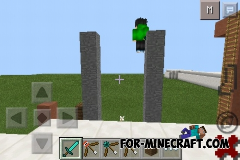 WALL JUMP MOD for Minecraft PE 0.11.1 / 0.11.0 / 0.10.5