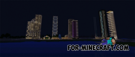 Grand Shine City map for Minecraft PE 0.11.X