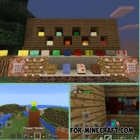Decorative blocks and Compressed blocks mods for MCPE 0.11.X