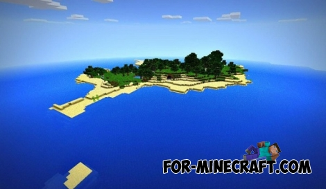 Survival island seed for MCPE 0.11.x