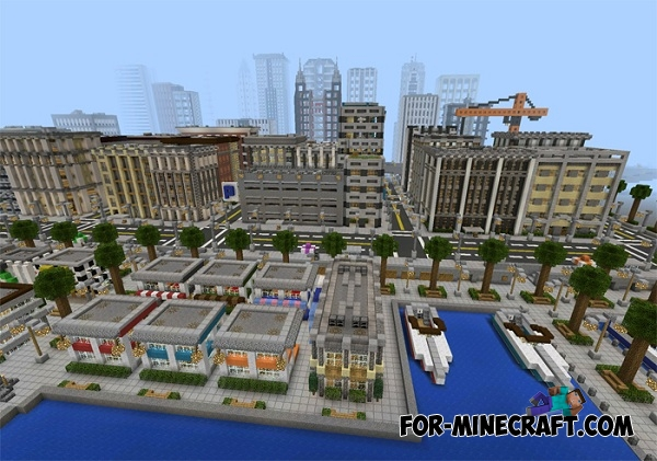 Universal City Map for Minecraft PE 0 12 1