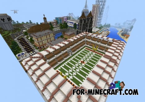 Pinnacle City map for Minecraft PE 0.12.1