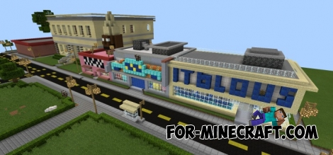 Springfield map for Minecraft Pocket Edition 0.12.1