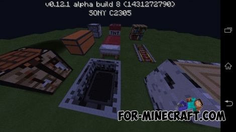 Pixel Arts map for Minecraft Pocket Edition 0.12.X