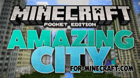 Universal City Map for Minecraft PE 0.12.1