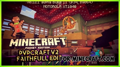PvPCraft v2 Faithfull 64×64 textures for Minecraft PE 0.12.1