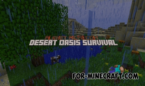 Desert Oasis Survival Map for Minecraft Pocket Edition 0.12.1