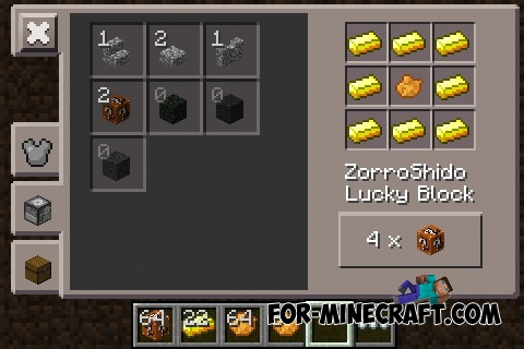 Lucky Block mod by ZorroShido for Minecraft PE 0 12 1