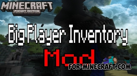 Big Player Inventory mod for Minecraft PE 0.12.1