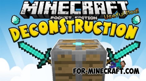 Deconstruction mod for Minecraft PE 0.12.1