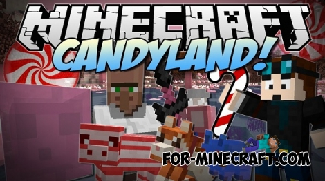Candy Land map for Minecraft PE 0.12.1