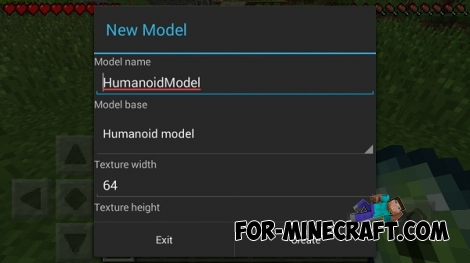 Dudu Modeler mod for Minecraft PE 0.12.1
