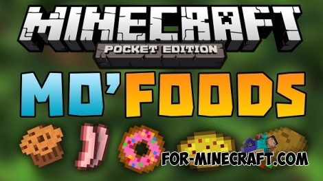 Mo'Food mod for Minecraft PE 0.12.1