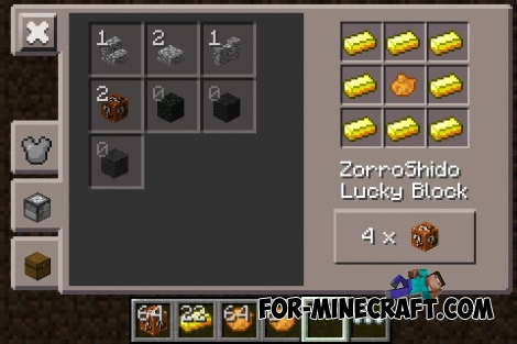 Lucky Block mod by ZorroShido for Minecraft PE 0.12.1