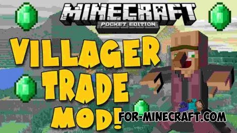 TradePE mod v2 for Minecraft PE 0.12.1