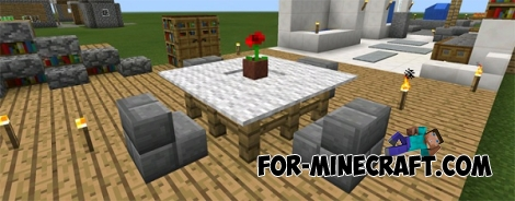 Furniture Ideas map for Minecraft PE 0.12.1
