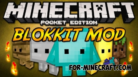 Blokkit mod for Minecraft Pocket Edition 0.12.1 / 0.12.2