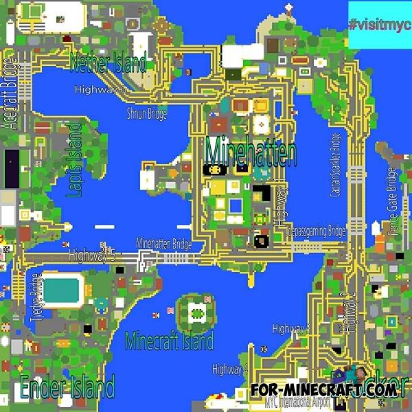 Mine York City map for MCPE 0 13 0
