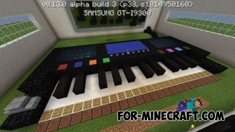 Redstone piano map for Minecraft PE 0.13.0