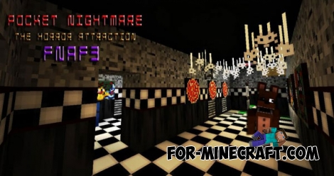 Pocket Nightmare: The Horror Attraction (FNAF 3) map [MCPE 0.13.0]