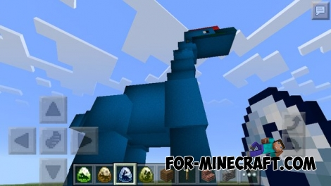 Jurassic Pocket mod for Minecraft PE 0.13.0