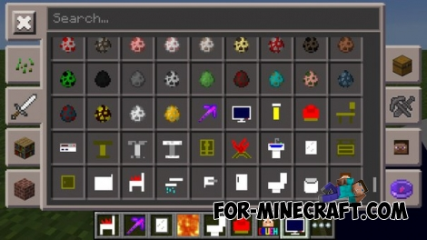 Caueh Ultilities mod v3.1 for Minecraft PE 0.13