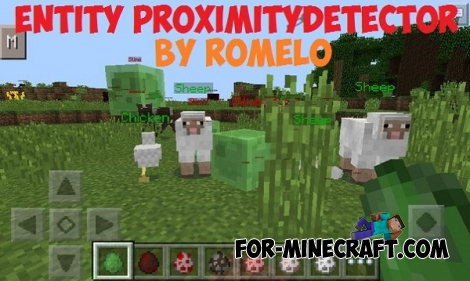 Entity ProximityDetector mod for Minecraft PE 0.13