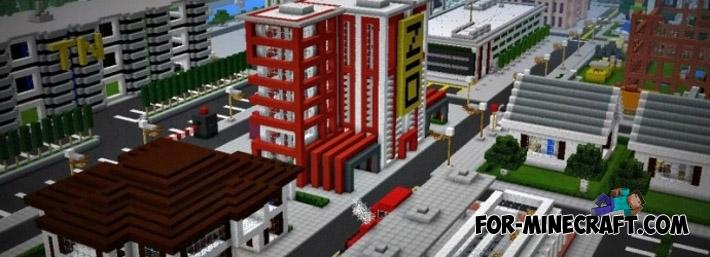 Big city map for Minecraft PE 0 14 0