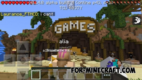 Hunger games server [Minecraft PE 0.14.0]