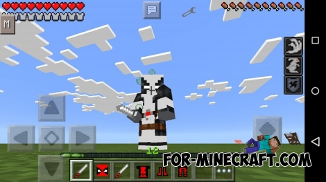 Deadpool PE mod for Minecraft PE 0.13.1/0.13.2