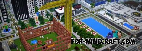 Big city map for Minecraft PE 0.14.0