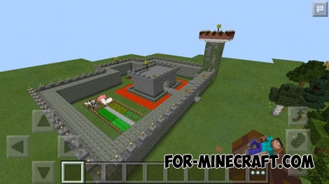 CASTLE WAR (improved version) map for MCPE 0.14.0